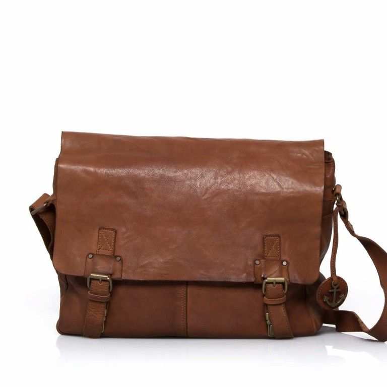HARBOUR2nd Messenger Bag Yamal Cognac, Farbe: cognac, Marke: Harbour 2nd, Abmessungen in cm: 37.0x30.0x9.0, Bild 1 von 4