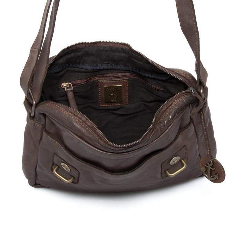 HARBOUR2nd Messenger Bag Funchal Brown, Farbe: braun, Marke: Harbour 2nd, EAN: 4046478022072, Abmessungen in cm: 29.0x25.0x7.0, Bild 4 von 5