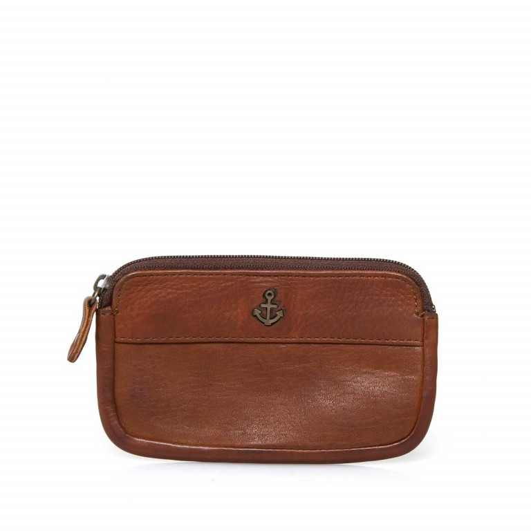 HARBOUR2nd Schlüsseltasche Nico Cognac, Farbe: cognac, Manufacturer: Harbour 2nd, Dimensions (cm): 13.0x7.5x1.5, Image 1 of 2