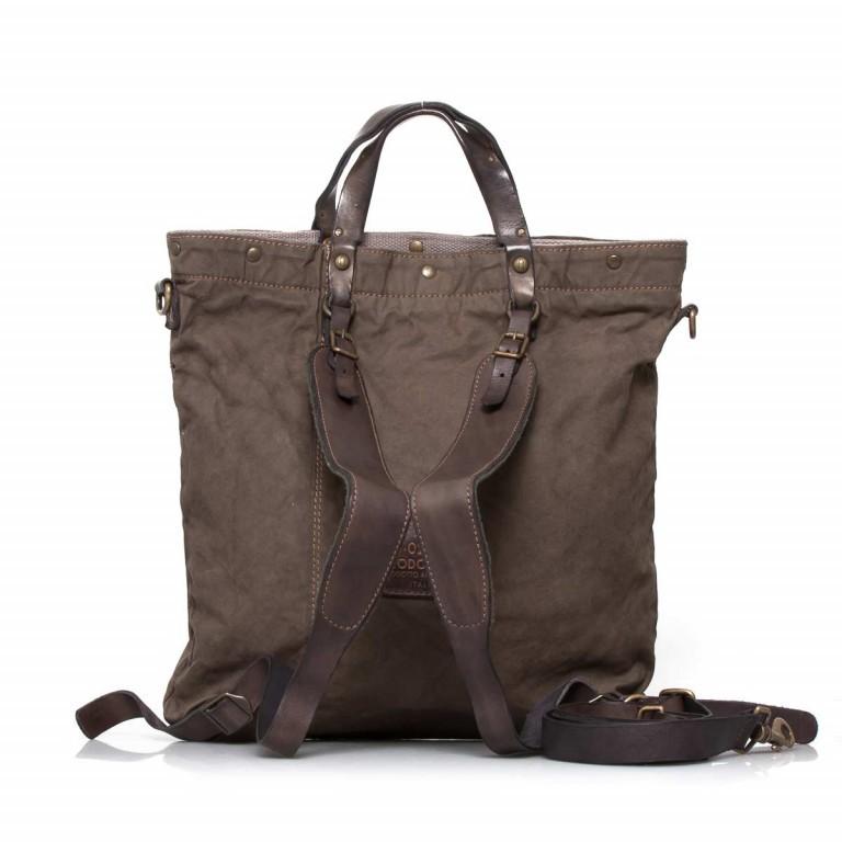Campomaggi Rucksack-Taschen-Kombi Grau-Braun, Farbe: grau, braun, Marke: Campomaggi, Abmessungen in cm: 42.0x44.0x2.0, Bild 4 von 6