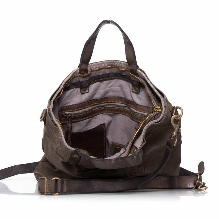 Campomaggi Rucksack-Taschen-Kombi Grau-Braun, Farbe: grau, braun, Marke: Campomaggi, Abmessungen in cm: 42.0x44.0x2.0, Bild 5 von 6