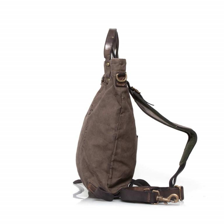 Campomaggi Rucksack-Taschen-Kombi Grau-Braun, Farbe: grau, braun, Marke: Campomaggi, Abmessungen in cm: 42.0x44.0x2.0, Bild 3 von 6