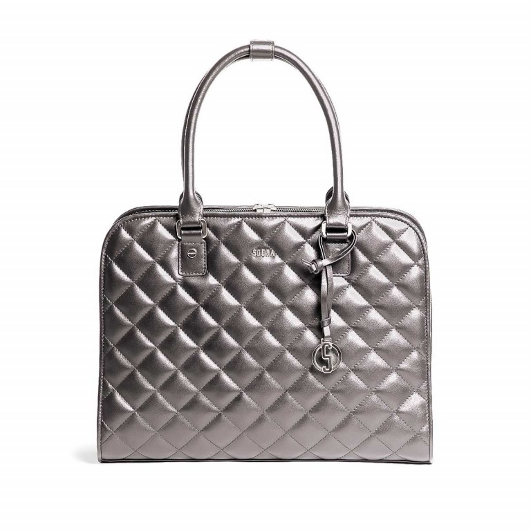 Socha Business Bag Ella Metal Gray, Marke: Socha, EAN: 4029276048406, Abmessungen in cm: 39.0x28.5x9.0, Bild 1 von 6
