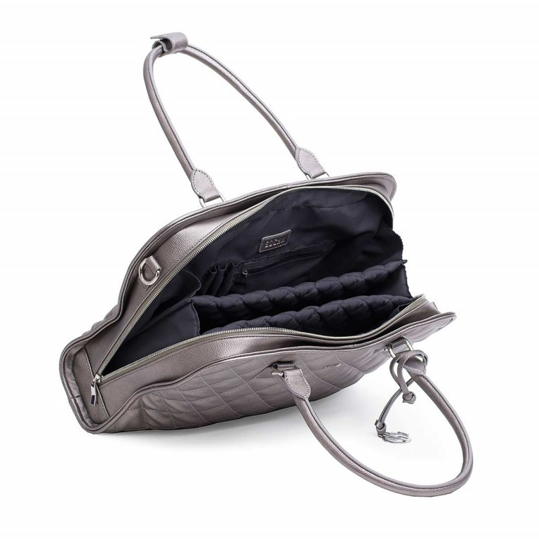 Socha Business Bag Ella Metal Gray, Marke: Socha, EAN: 4029276048406, Abmessungen in cm: 39.0x28.5x9.0, Bild 4 von 6
