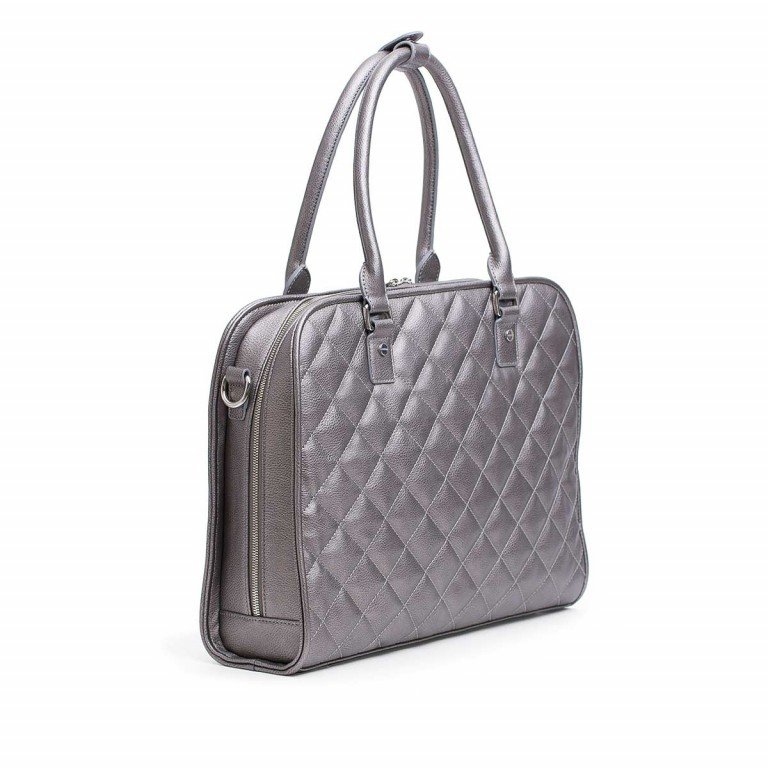Socha Business Bag Ella Metal Gray, Marke: Socha, EAN: 4029276048406, Abmessungen in cm: 39.0x28.5x9.0, Bild 2 von 6