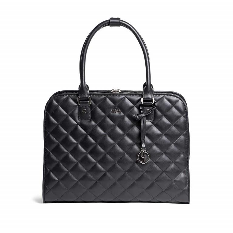 Socha Business Bag Ella Jet Black, Farbe: schwarz, Marke: Socha, EAN: 4029276048420, Abmessungen in cm: 39.0x28.5x9.0, Bild 1 von 5