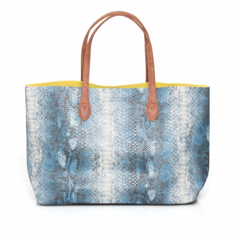 Fritzi aus Preußen Joerdis Snake Shopper Azul, Farbe: blau/petrol, Marke: Fritzi aus Preußen, Abmessungen in cm: 53.0x31.0x17.5, Bild 5 von 5