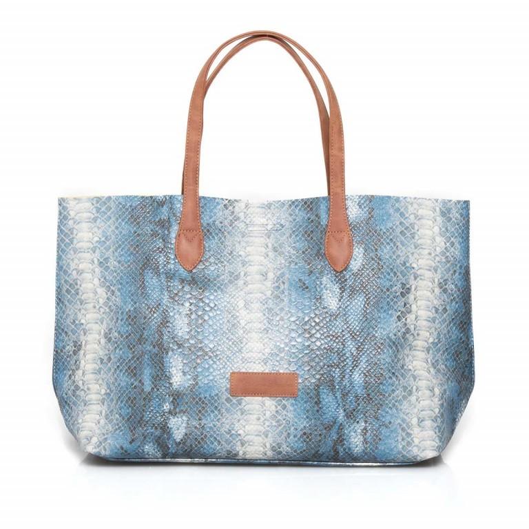 Fritzi aus Preußen Joerdis Snake Shopper Azul, Farbe: blau/petrol, Marke: Fritzi aus Preußen, Abmessungen in cm: 53.0x31.0x17.5, Bild 2 von 5