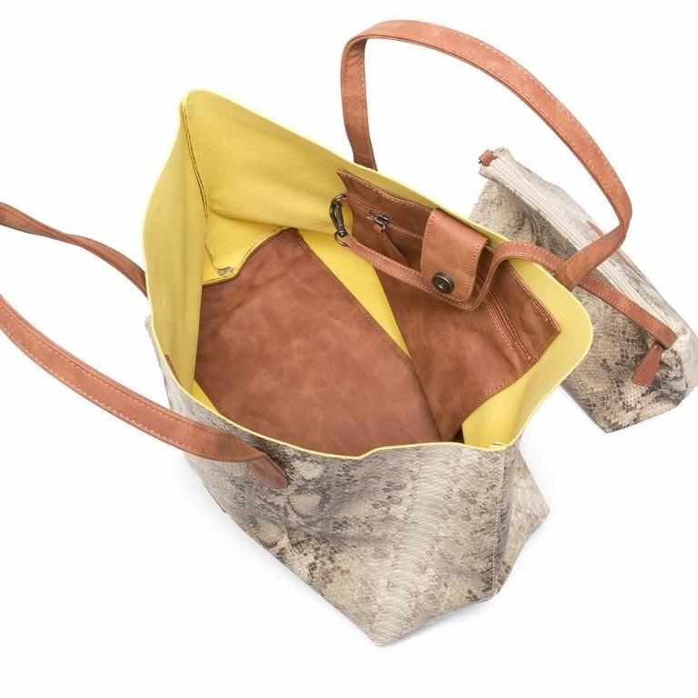 Fritzi aus Preußen Joerdis Snake Shopper Sahara, Farbe: beige, Marke: Fritzi aus Preußen, Abmessungen in cm: 53.0x31.0x17.5, Bild 4 von 5