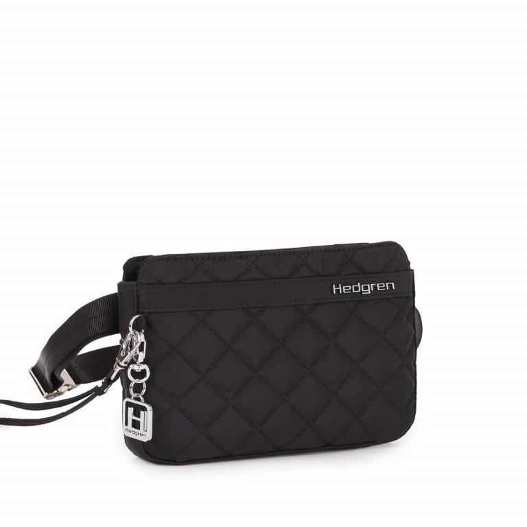 Hedgren Diamond Touch Marina Waistbag Clutch Crossover Combi Black, Farbe: schwarz, Marke: Hedgren, Abmessungen in cm: 21.0x14.0x3.0, Bild 1 von 2