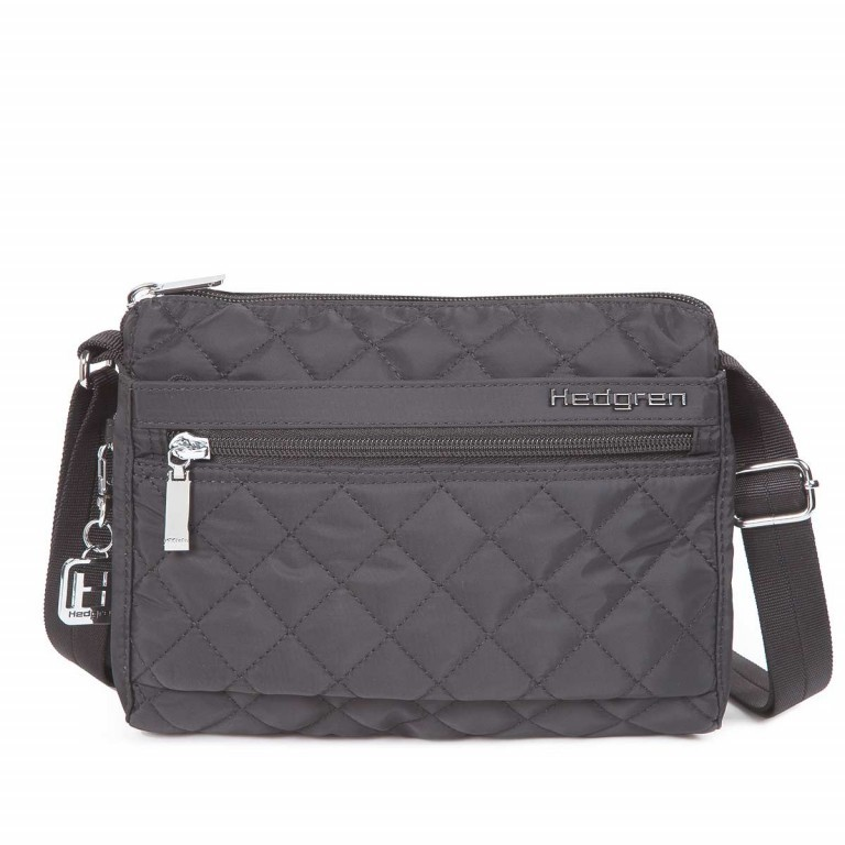 Hedgren Diamond Touch Carina Shoulder Bag Grau, Farbe: anthrazit, grau, Marke: Hedgren, Abmessungen in cm: 23.0x18.0x9.0, Bild 1 von 1
