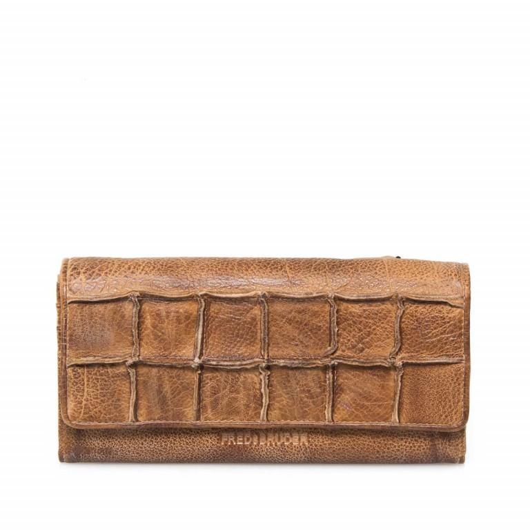 FREDsBRUDER Rechteck 18-801 Flachbörse Leder Toffee, Farbe: cognac, Marke: FredsBruder, EAN: 4250813546080, Abmessungen in cm: 19.5x9.5x4.0, Bild 1 von 4