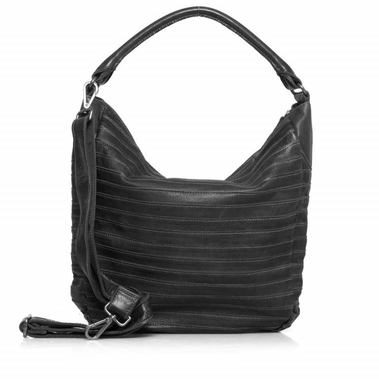 FREDsBRUDER Gürteltier 18-97s-01 Beutel Leder Black, Farbe: schwarz, Marke: FredsBruder, Abmessungen in cm: 32.5x35.0x8.5, Bild 3 von 4