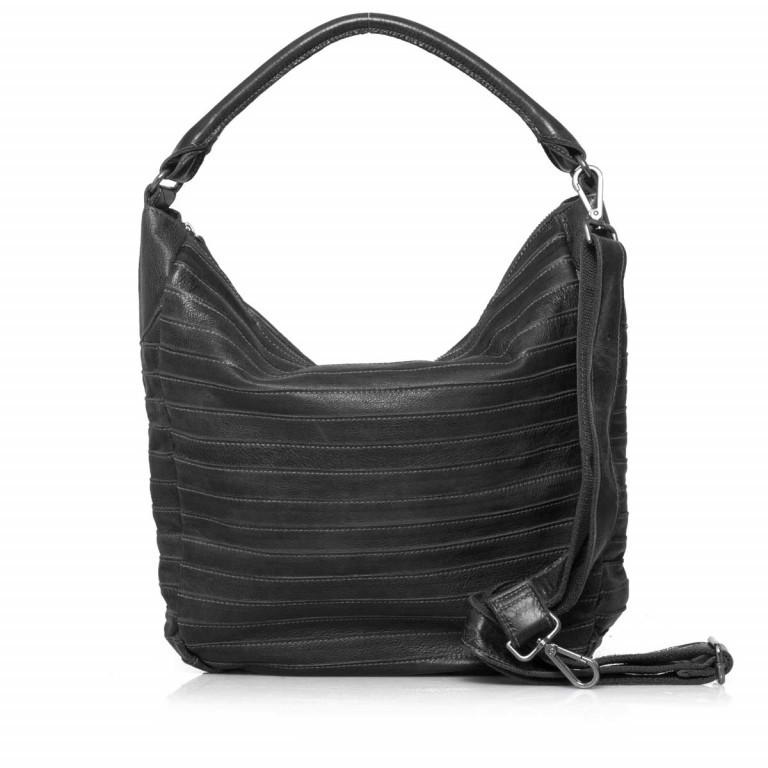 FREDsBRUDER Gürteltier 18-97s-01 Beutel Leder Black, Farbe: schwarz, Marke: FredsBruder, Abmessungen in cm: 32.5x35.0x8.5, Bild 1 von 4