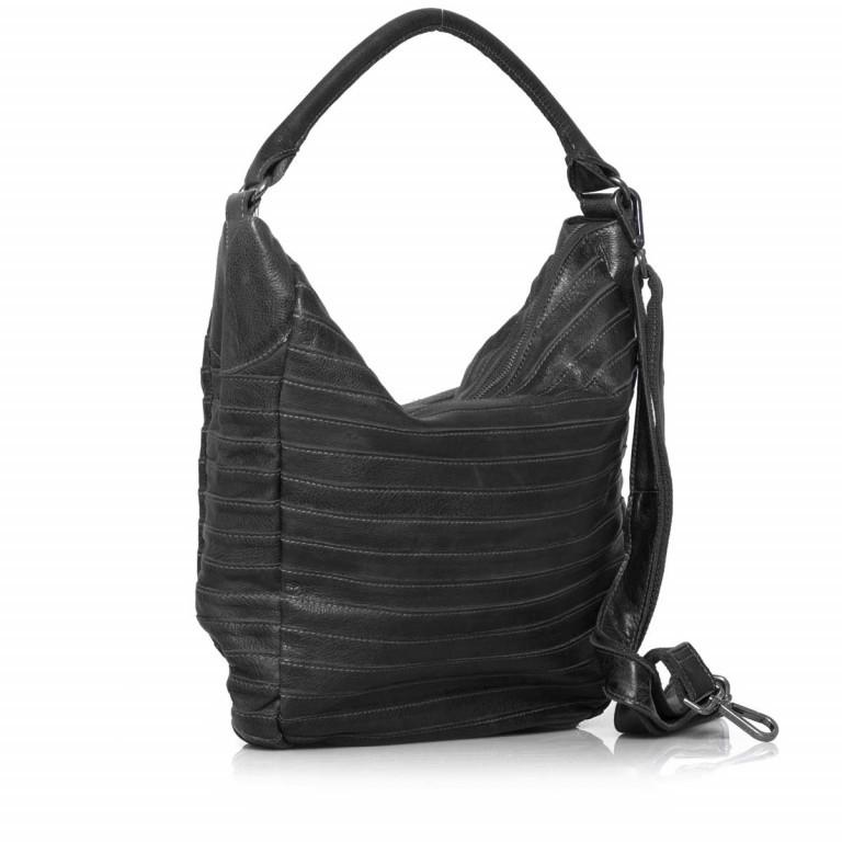 FREDsBRUDER Gürteltier 18-97s-01 Beutel Leder Black, Farbe: schwarz, Marke: FredsBruder, Abmessungen in cm: 32.5x35.0x8.5, Bild 2 von 4