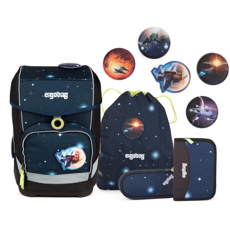 Ergobag Cubo Set 5-teilig Galaxy Special Edition KoBärnikus, Farbe: blau/petrol, Marke: Ergobag, EAN: 4057081024131, Abmessungen in cm: 25.0x40.0x20.0, Bild 1 von 14