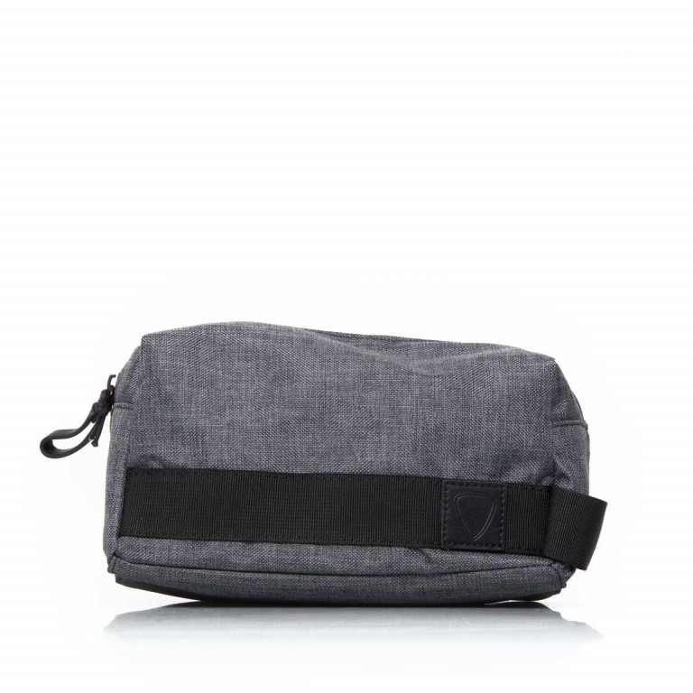 Strellson Northwood Wash Bag Dark Grey, Farbe: anthrazit, Marke: Strellson, EAN: 4053533401888, Abmessungen in cm: 25.0x13.0x13.0, Bild 3 von 4