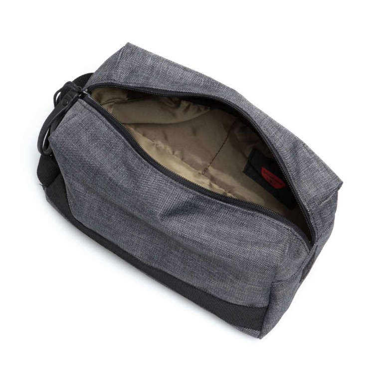 Strellson Northwood Wash Bag Dark Grey, Farbe: anthrazit, Marke: Strellson, EAN: 4053533401888, Abmessungen in cm: 25.0x13.0x13.0, Bild 4 von 4