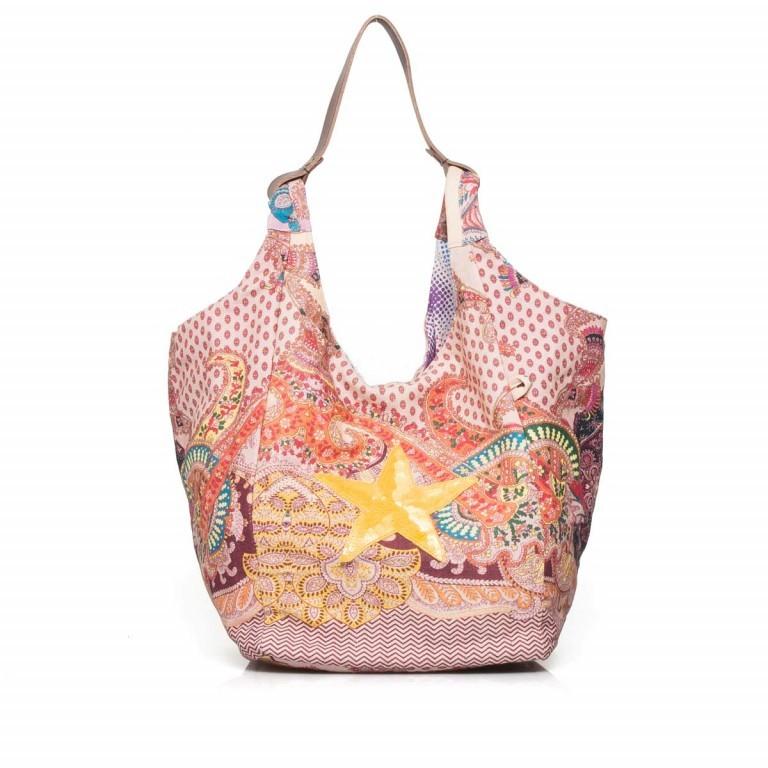 Anokhi Cheyenne Canvas Star Paisley Pink, Farbe: rot/weinrot, flieder/lila, rosa/pink, orange, gelb, Marke: Anokhi, Abmessungen in cm: 30.0x35.0x30.0, Bild 1 von 4