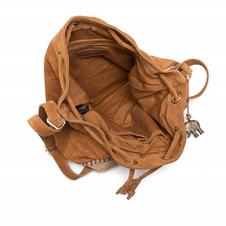 Anokhi Melpo Suede Espandrilles Beutel Leder Camel, Farbe: cognac, Marke: Anokhi, Abmessungen in cm: 35.0x37.0x17.0, Bild 4 von 5
