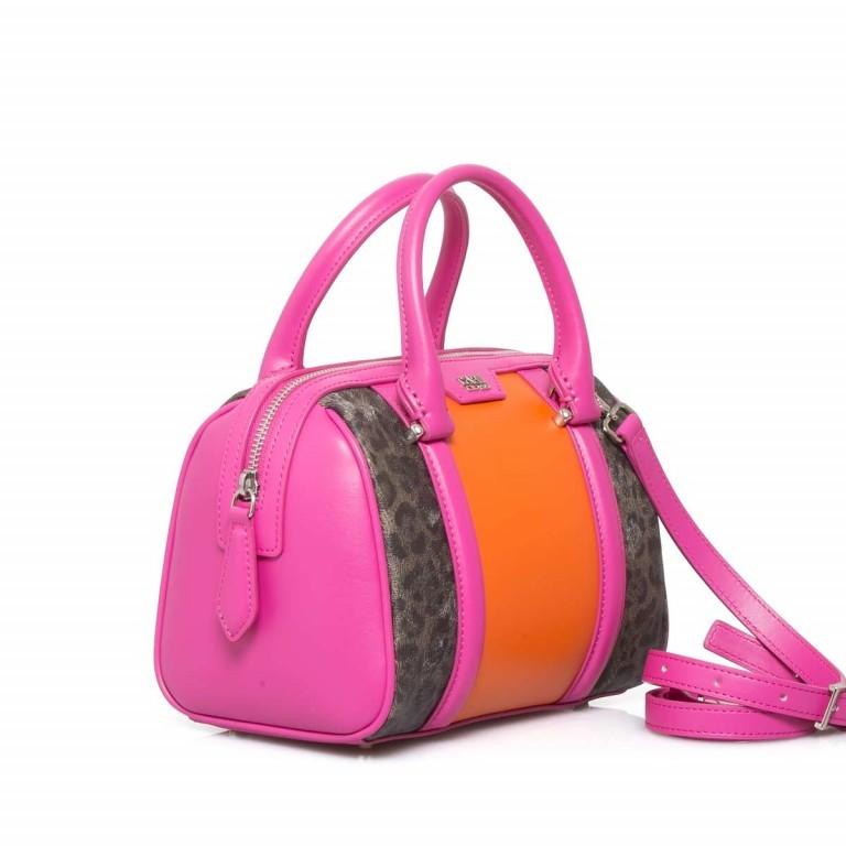 Cavalli Signature Bowlingbag S Leder Orange Fuchsia, Farbe: braun, rosa/pink, orange, Marke: Cavalli, Abmessungen in cm: 22.0x17.0x13.0, Bild 2 von 4