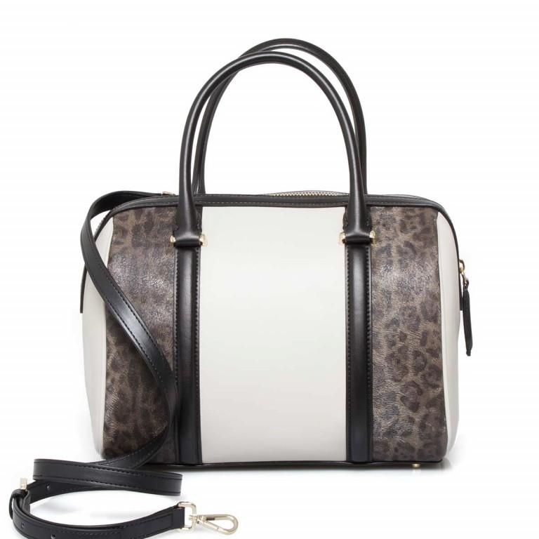 Cavalli Signature Bowlingbag M Leder Offwhite Black, Farbe: schwarz, braun, beige, Marke: Cavalli, Abmessungen in cm: 27.0x22.0x16.0, Bild 4 von 4
