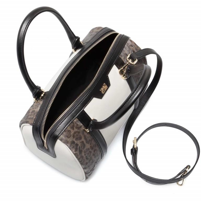 Cavalli Signature Bowlingbag M Leder Offwhite Black, Farbe: schwarz, braun, beige, Marke: Cavalli, Abmessungen in cm: 27.0x22.0x16.0, Bild 3 von 4