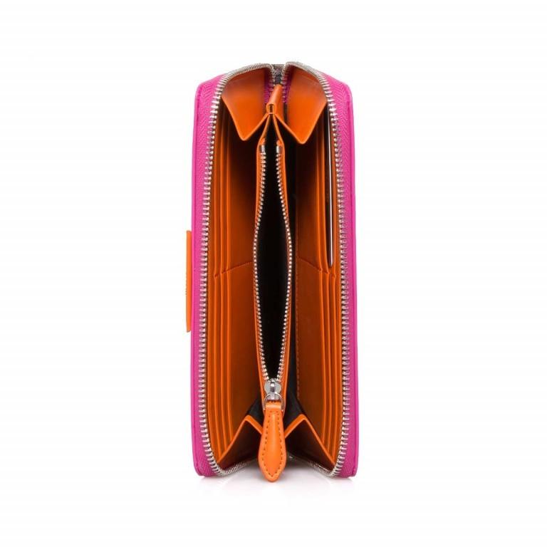 Cavalli Signature Reißverschlussbörse Leder Orange Fuchsia, Marke: Cavalli, Abmessungen in cm: 19.0x10.5x3.0, Bild 2 von 3