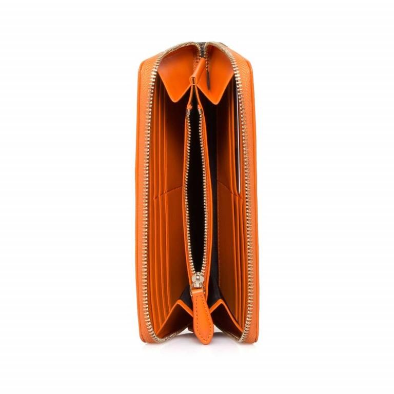 Cavalli Signature Reißverschlussbörse Leder Orange Offwhite, Farbe: braun, orange, beige, Marke: Cavalli, Abmessungen in cm: 19.0x10.5x3.0, Bild 2 von 3