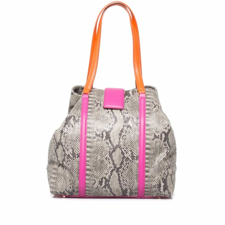 Cavalli Signature Medium Shoulderbag Leder Orange Fuchsia, Farbe: braun, rosa/pink, orange, Marke: Cavalli, Abmessungen in cm: 32.0x31.0x15.5, Bild 5 von 5