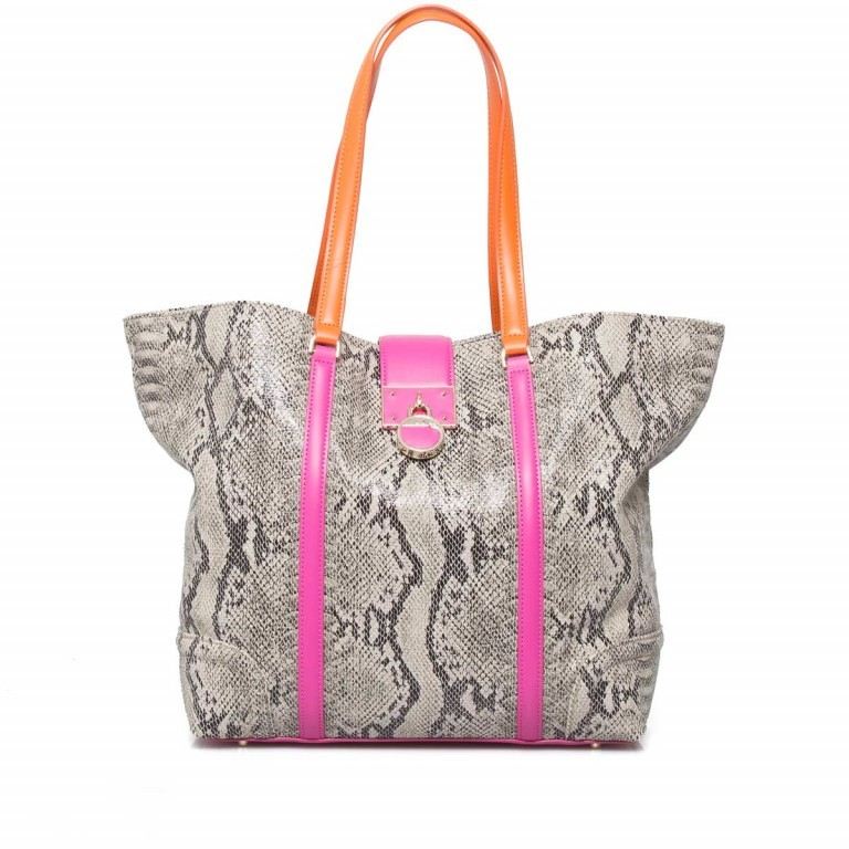 Cavalli Signature Medium Shoulderbag Leder Orange Fuchsia, Farbe: braun, rosa/pink, orange, Marke: Cavalli, Abmessungen in cm: 32.0x31.0x15.5, Bild 4 von 5