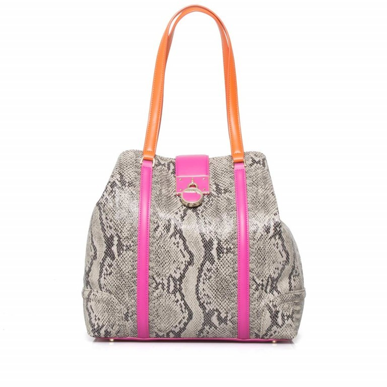 Cavalli Signature Medium Shoulderbag Leder Orange Fuchsia, Farbe: braun, rosa/pink, orange, Marke: Cavalli, Abmessungen in cm: 32.0x31.0x15.5, Bild 1 von 5