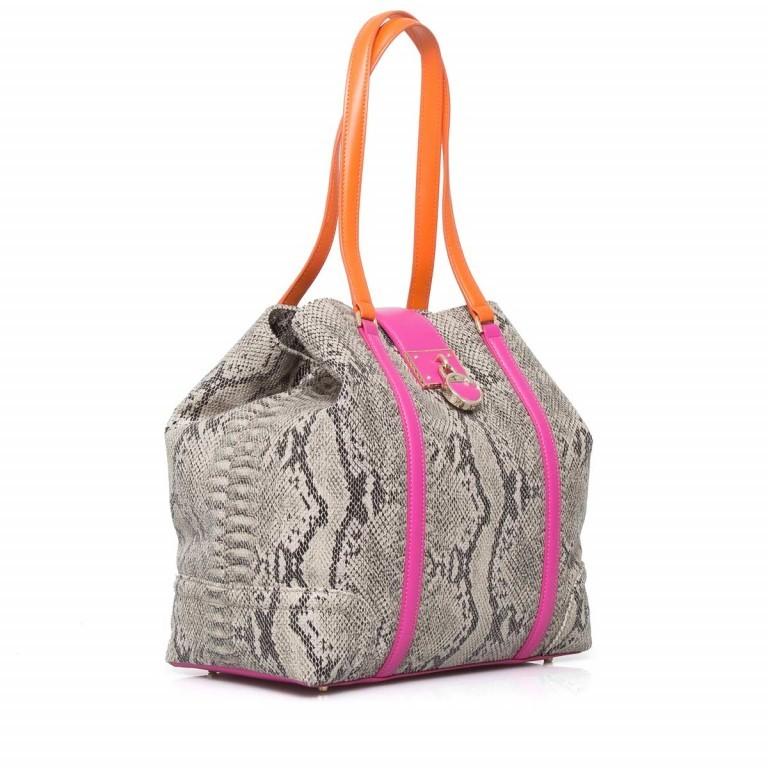 Cavalli Signature Medium Shoulderbag Leder Orange Fuchsia, Farbe: braun, rosa/pink, orange, Marke: Cavalli, Abmessungen in cm: 32.0x31.0x15.5, Bild 2 von 5