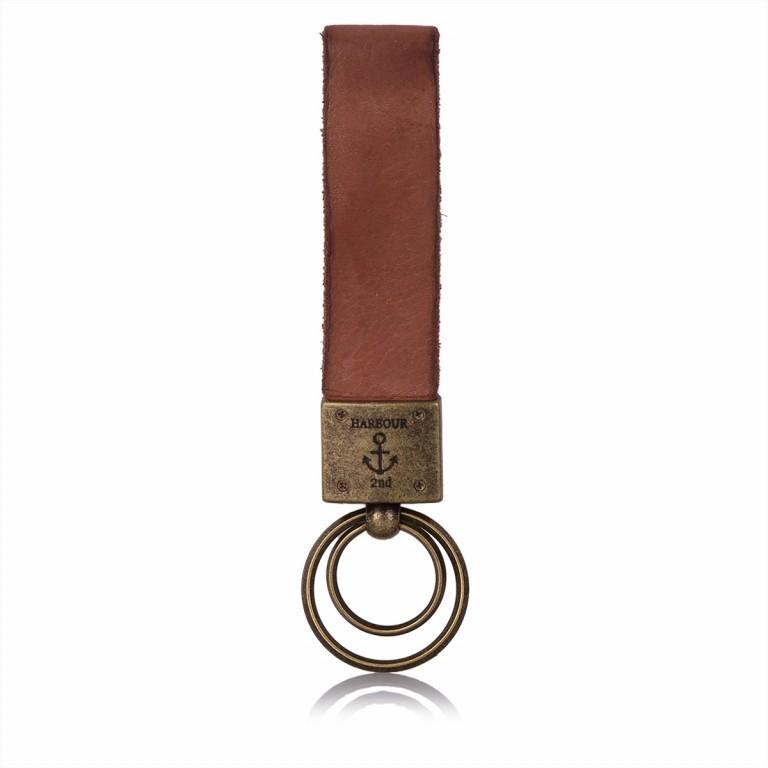 HARBOUR2nd Schlüsselanhänger Hector Cognac, Farbe: cognac, Marke: Harbour 2nd, Abmessungen in cm: 17.0x3.0, Bild 2 von 2
