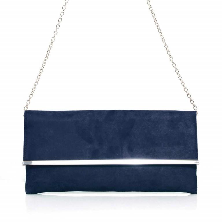 Menbur Clutch Velours Blau, Farbe: blau/petrol, Marke: Menbur, Abmessungen in cm: 31.0x14.0x3.0, Bild 1 von 4