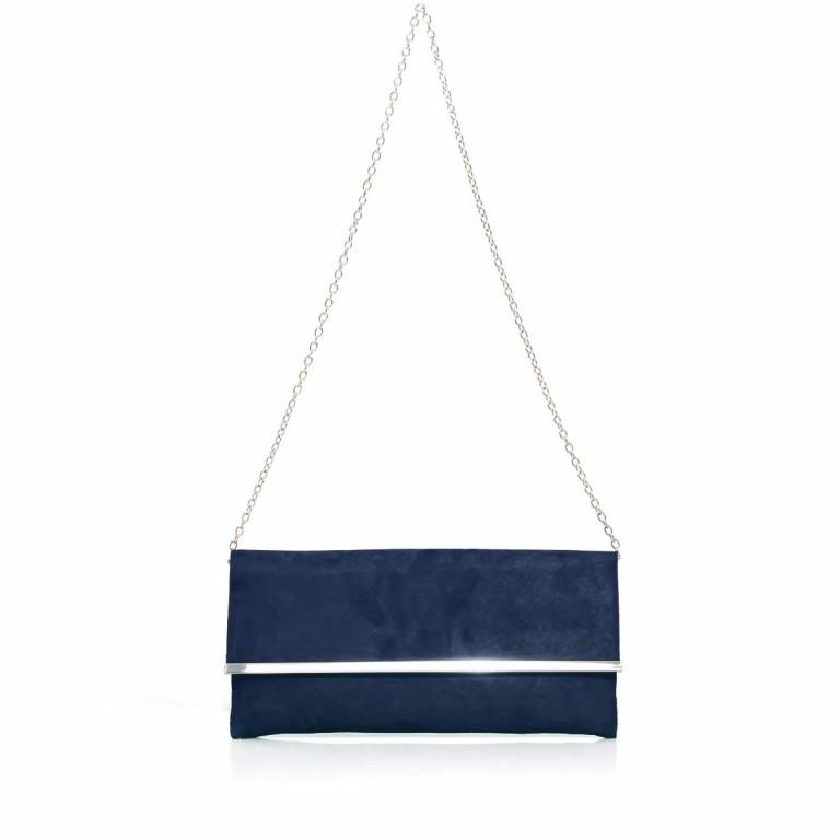 Menbur Clutch Velours Blau, Farbe: blau/petrol, Marke: Menbur, Abmessungen in cm: 31.0x14.0x3.0, Bild 2 von 4