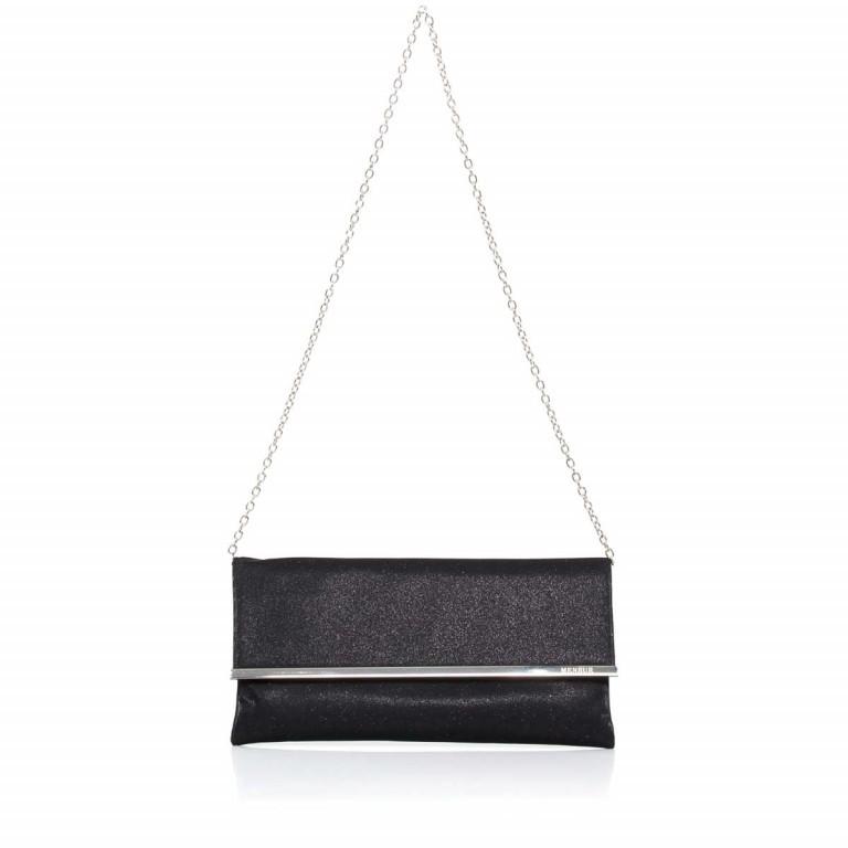 Menbur Clutch mit Überschlag Glitzer Schwarz, Farbe: schwarz, Marke: Menbur, Abmessungen in cm: 31.0x15.0x2.5, Bild 2 von 4