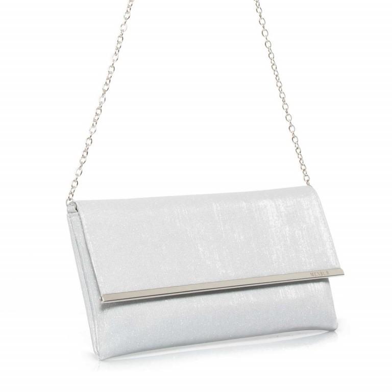 Menbur Clutch mit Überschlag Glitzer Silber, Farbe: metallic, Marke: Menbur, Abmessungen in cm: 31.0x15.0x2.5, Bild 3 von 4