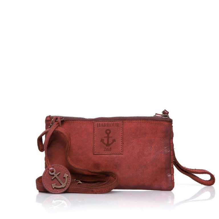 HARBOUR2nd Clutch Lillen Red, Farbe: rot/weinrot, Marke: Harbour 2nd, Abmessungen in cm: 23.0x13.0x2.0, Bild 2 von 3