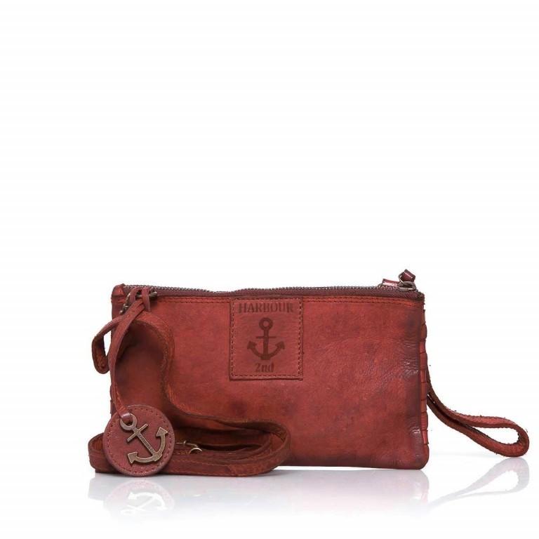 HARBOUR2nd Clutch Lillen B3.4795 Addicting Red, Farbe: rot/weinrot, Marke: Harbour 2nd, Abmessungen in cm: 23.0x13.0x2.0, Bild 2 von 3