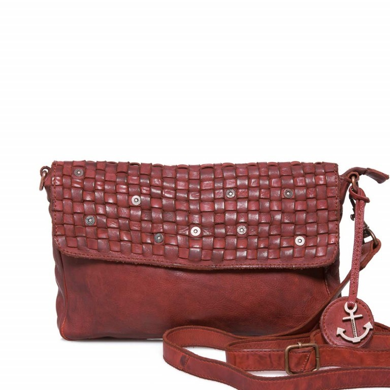 HARBOUR 2nd Clutch Loa Red, Farbe: rot/weinrot, Marke: Harbour 2nd, Abmessungen in cm: 28.5x19.0x3.0, Bild 1 von 4