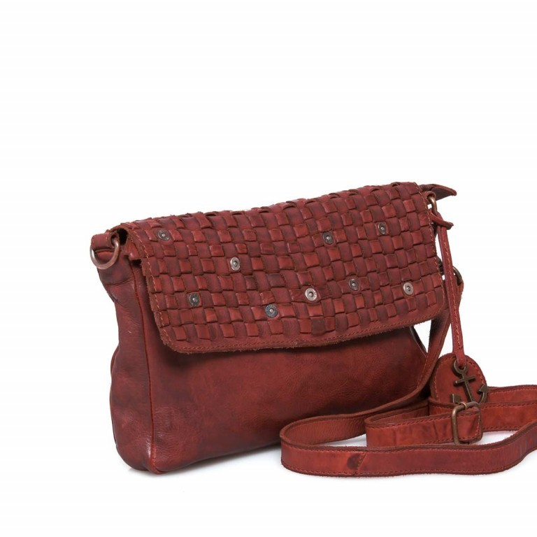 HARBOUR 2nd Clutch Loa Red, Farbe: rot/weinrot, Marke: Harbour 2nd, Abmessungen in cm: 28.5x19.0x3.0, Bild 2 von 4