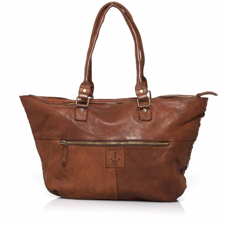 HARBOUR2nd Shopper Malea Cognac, Farbe: cognac, Marke: Harbour 2nd, Abmessungen in cm: 48.0x31.5x13.0, Bild 3 von 4