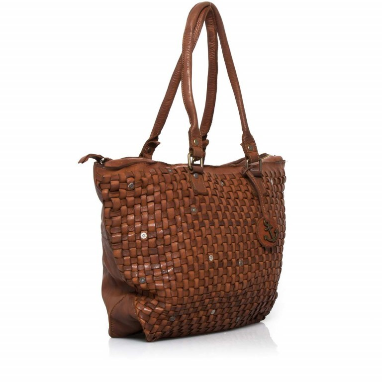HARBOUR2nd Shopper Malea Cognac, Farbe: cognac, Marke: Harbour 2nd, Abmessungen in cm: 48.0x31.5x13.0, Bild 2 von 4
