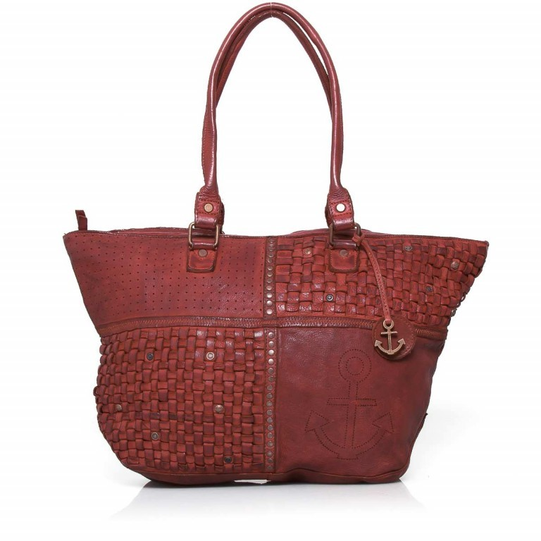 HARBOUR2nd Shopper Mia Red, Farbe: rot/weinrot, Marke: Harbour 2nd, Abmessungen in cm: 49.0x30.0x14.5, Bild 1 von 4