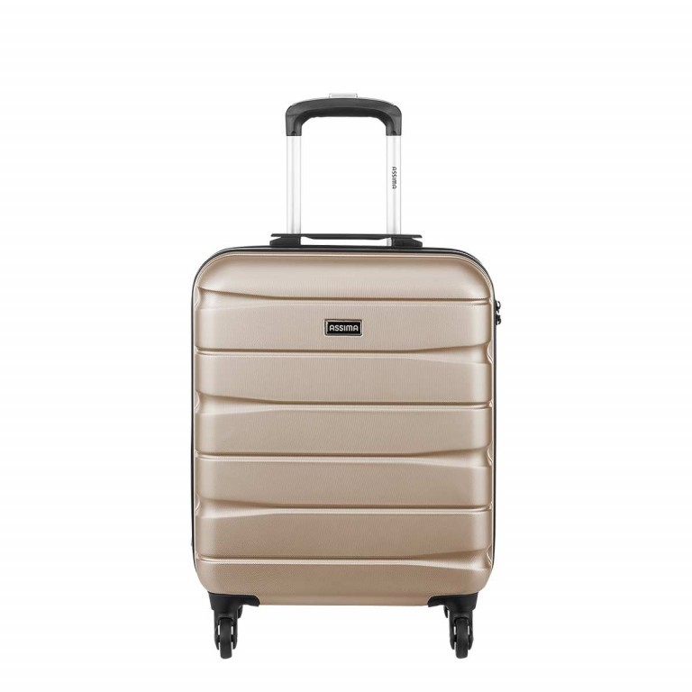 ASSIMA München Trolley 54cm Gold, Farbe: metallic, Manufacturer: Assima, Dimensions (cm): 40.0x54.0x20.0, Image 1 of 5