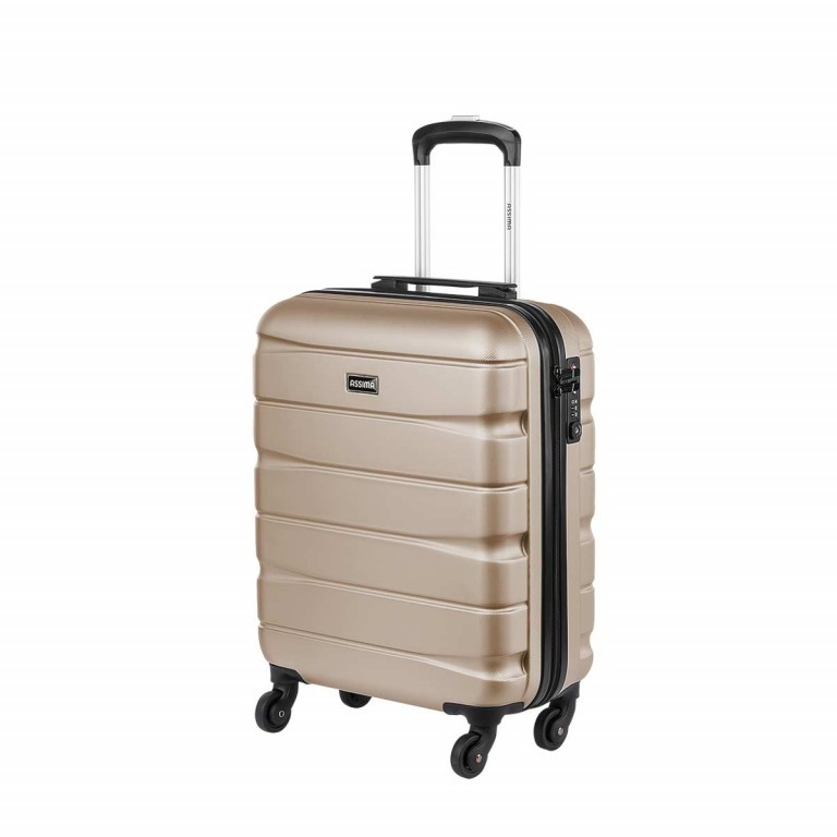 ASSIMA München Trolley 54cm Gold, Farbe: metallic, Manufacturer: Assima, Dimensions (cm): 40.0x54.0x20.0, Image 2 of 5