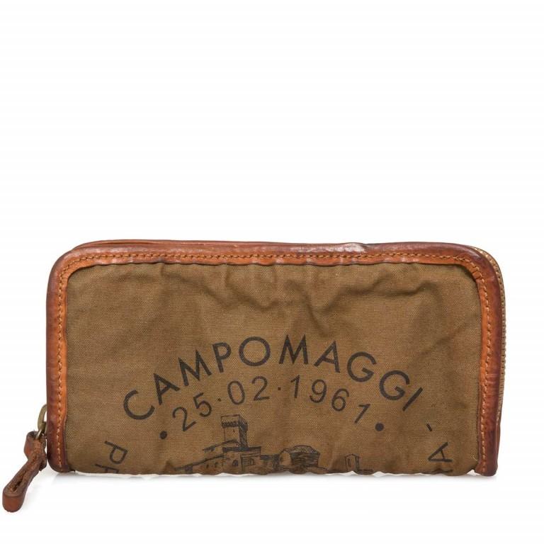 Campomaggi Börse CP0132-TVVLTC-1702 Vintage Canvas Cognac / Druck Schwarz, Farbe: cognac, Marke: Campomaggi, Abmessungen in cm: 20.0x11.5x3.0, Bild 1 von 3