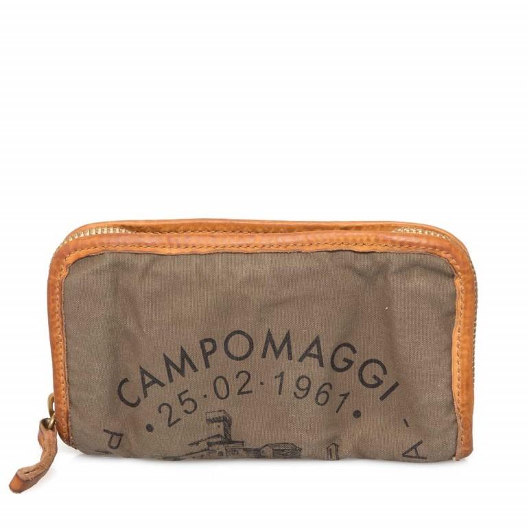 Campomaggi Börse CP0132-TEVL2-2393 Canvas Khaki / Druck Schwarz, Farbe: taupe/khaki, Marke: Campomaggi, Abmessungen in cm: 20.0x11.5x3.0, Bild 1 von 3