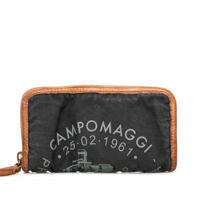 Campomaggi Börse Canvas CP0132-TEVL2-3249 Schwarz / Druck Grau, Farbe: schwarz, grau, Marke: Campomaggi, Abmessungen in cm: 20.0x11.5x3.0, Bild 1 von 3